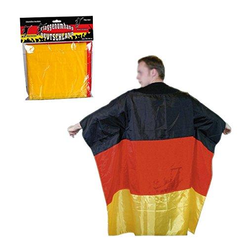 Preis am Stiel 2 x Fan-Umhang ''Deutschlandflagge''   Fanartikel Deutschland   Geschenk für Männer   Fußball WM   Fahnene & Flaggen   Deutschlandfahne (Kostüm Luftballon Lieferung)