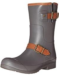 Sperry Top-Sider Women's Walker Fog CHR Rain Boot, Charcoal, 10 M US