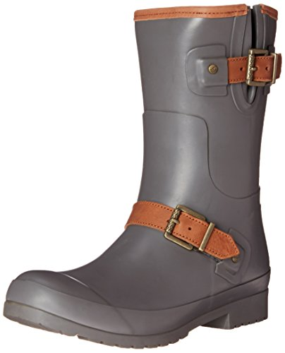Sperry Top-Sider Women's Walker Fog CHR Rain Boot, Charcoal, 10 M US Grey
