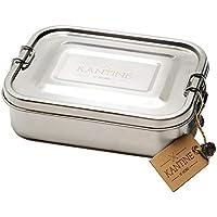 Kantine 51° Nord ® Lunchbox Classic | Brotdose aus Edelstahl | 100% plastikfrei, nachhaltig und gesund | Gut für Kinder, Erwachsene und die Umwelt | Perfekter Begleiter für Schule, Uni und Büro