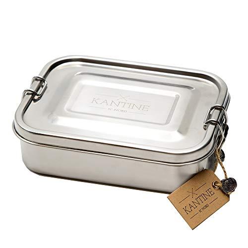 Kantine 51° Nord Lunchbox Classic | Brotdose aus Edelstahl | 100% plastikfrei, nachhaltig und gesund | Gut für Kinder, Erwachsene und die Umwelt | Perfekter Begleiter für Schule, Uni und Büro