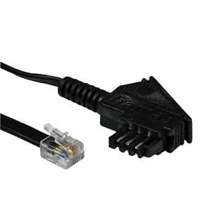 hama modem anschlusskabel tae n stecker elektronik. Black Bedroom Furniture Sets. Home Design Ideas