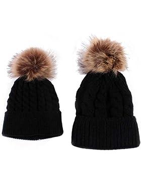 Strickmützen,Amlaiworld Mama und Baby stricken Keep Warm Hut