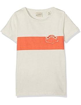 Scotch & Soda Shrunk Jungen T-Shirt Tee with Printed Stripe & Badge
