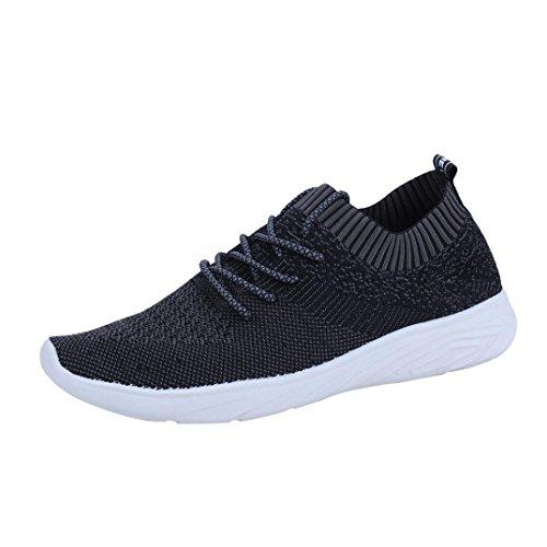 Baskets FantaisieZ Chaussures de Gymnastique pour Hommes Fashion Cross Attachés Plates Chaussures de Course à Pied en Maille Solide Bouche Peu Profonde