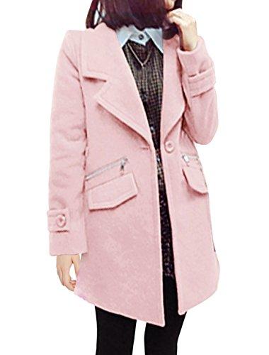 Sourcingmap Damen Mantel Rosa Pink X-Small
