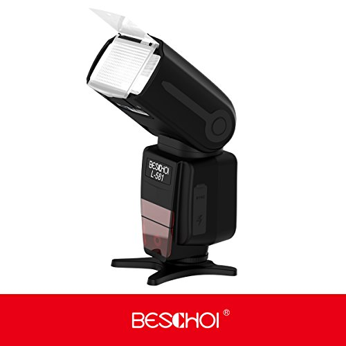 DSLR-FlashBeschoi-GN-58-Flash-Speedlite-Camera-Flash-Light-Professional-Wireless-DSLR-Speedlight-Master-Canon-Flashgun-with-TTL-mode-Auto-ZoomRear-Curtain-SyncHot-shoe-PC-mountfor-Canon-DSLR-Camera
