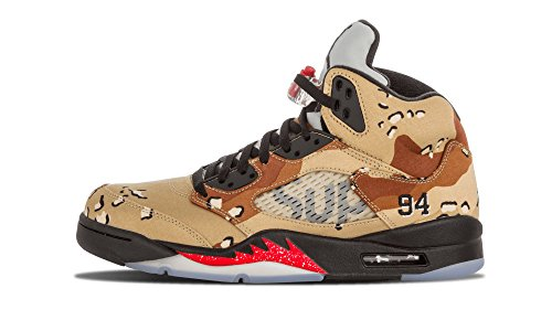 separation shoes 9865e 3f1f2 Nike Herren Air Jordan 5 Retro Supreme Turnschuhe Braun   Schwarz   Grau ( Bambus