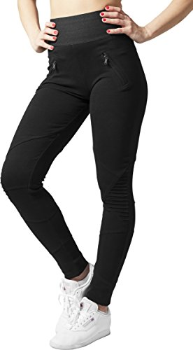 Urban Classics Damen Sport Legging Leggings Interlock High Waist schwarz (Schwarz) Medium