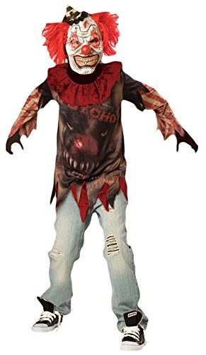 Zauberclown - Jungen Karneval Halloween Kostüm Scary Clown , Mehrfarbig, Größe 164-176, 14-16 Jahre