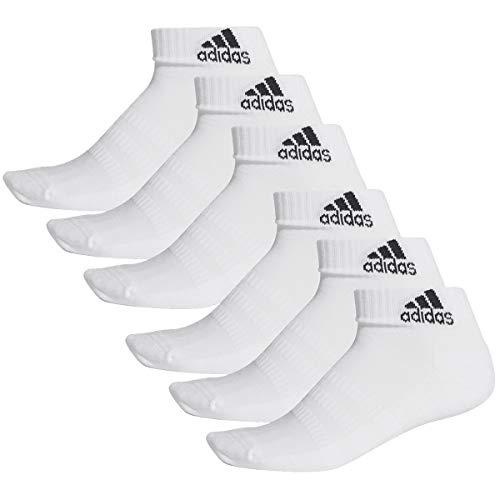 adidas 6 Paar Performance Sneaker/Quarter Socken Unisex Kurzsocke, Farbe:White, Socken & Strümpfe:40-42