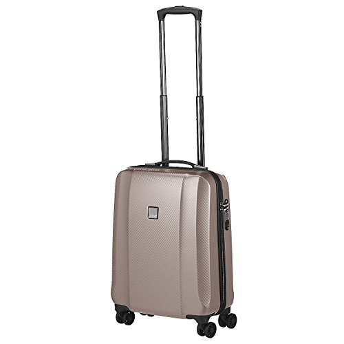 "TITAN Valise trolley ""Xenon Deluxe"" avec 4 roues champagne Koffer, 55 cm, 38 liters, Beige (Champagne)"