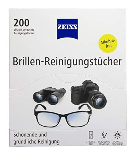 ZEISS Brillen-Reinigungstücher (200 Stk), NEUE Formulierung zur schonenden & gründlichen Reinigung Ihrer Brillengläser