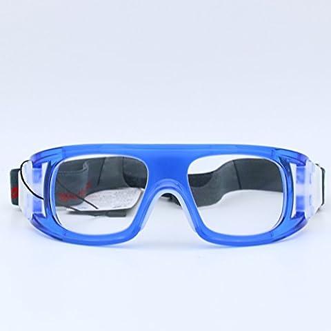 Brillen Sport Schutzbrille verstellbaren Elastic Wrap Eyewear für Fußball Basketball Tennis Fußball Volleyball Hockey Rugby yoxi, blau
