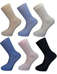 **Great Value** Ladies 6pk Bamboo Soft Comfort Socks