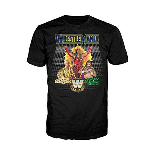 WWE Wrestlemania Legends Official Men's T-Shirt (Black) (Large)