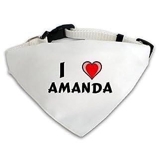 Dog Bandana with I love Amanda (first name/surname/nickname) 41T5XbSuwvL