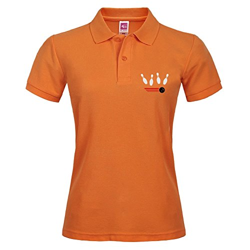 New Basic Version Polo Shirts Größe mit Cool Bowling Tricolor Stil Polo Tees xl orange (Plus Polo Cool)