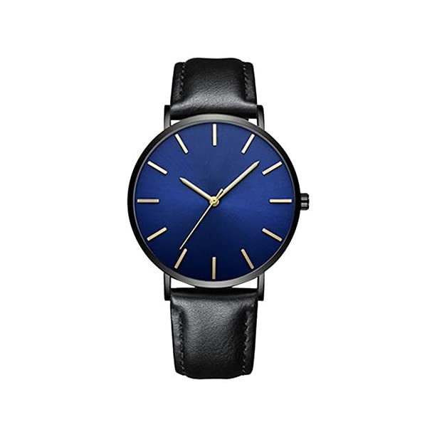 DYLUNG Mens WatchesUltra Thin Luxury Quartz Wrist Watch With Leather Strap Business Sports Casual Dress Watches Chritmas Birthday Gifts For Man