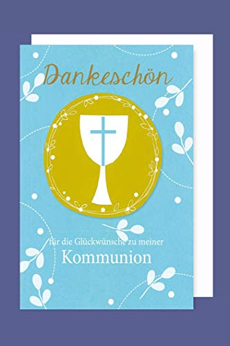 AvanCarte GmbH Kommunion Danksagungen Karte 5er Set Kelch Kreuz Kreis 5 Grußkarten C6 2019