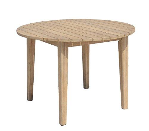 Garten Tisch Arvada Ø 110 cm Akazie Holz Esstisch Gartentisch Terrasse Möbel