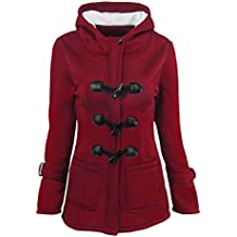 Zhuhaitf High Quality Cotton Winter Coat Long Hooded Horns Buckle Jacket Plus Size Hermoso para las mujeres