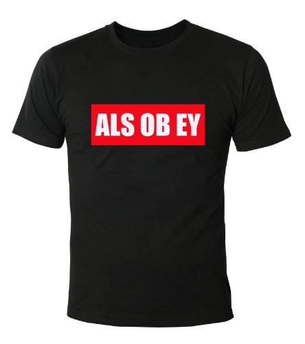Mister Merchandise Cooles Herren T-Shirt Als Ob EY OBEY , Größe: M, Farbe: Schwarz (Wars-jugend-t-shirt Star)