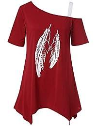 Amazon.es: camisetas moradas - Rojo / Camisetas, tops y ...