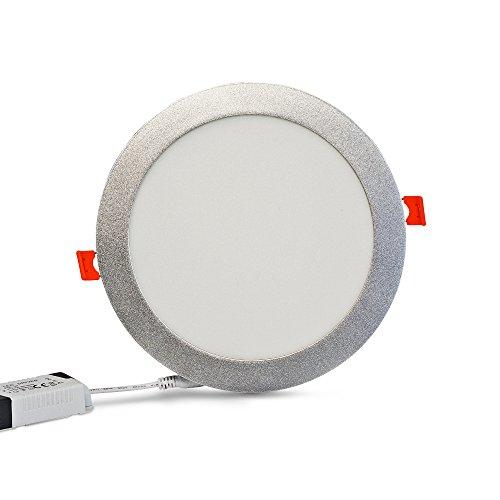 Barcelona LED B1272-P Spot LED encastrable extra-plat Cadre circulaire Argenté 18 W Blanc neutre - 4 000 K