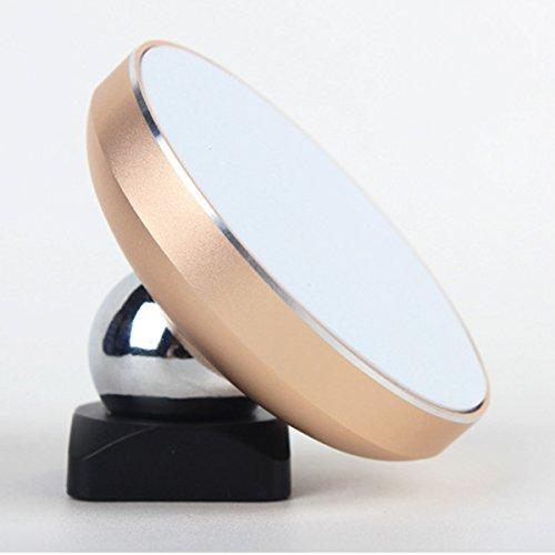 Magnetic Qi Wireless Anti-Slip 1000mAh Schnell-Ladegerät Ladeschale mit Halter für Ladehalterung für Auto-Ladestation mit Entlüftung für iPhoneX iPhone 8 Samsung Galaxy Note 8, all QI-Enabled Devices, Gold