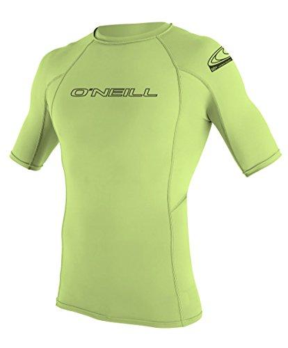 O 'Neill Neoprenanzug Herren UV-Sonnenschutz Basic Skins Short Sleeve Rash Guard Crew Shirt lime