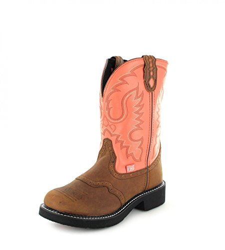 Justin Boots L9907 Westernreitstiefel für Damen Braun, Groesse:39 (9 US) (Rindsleder Western-boot Braun)