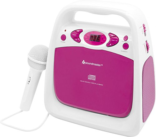 Soundmaster KCD50PI CD und USB-Spieler mit Sing-a-Long Funktion und UKW Radio (Sing A Long Cd-mp3-player)