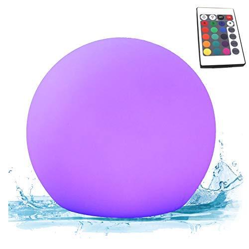 PK Green Erstklassige LED Schwimmkugel | 15cm Kugel Wasserdicht IP67 Outdoor für Pool, Teich, Garten Außenbereich | Schwimmleuchte Tischlampe RGB mit Farbwechsel, Fernbedienung | Teichlampe Poollicht