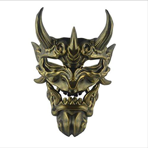 ZAZCB Devil's Game Toy Grimasse Devillike Doll Halloweens fortschrittliche Harzmaske B