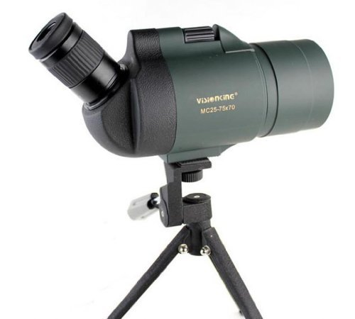 Visionking 25-75x70 Maksutov 100{58cc656179c7b73150bc7b8bb444a3bef718f64fa17a610ab15b1bcb17fe1c46} Waterproof Bak4 Spotting scope w/ Tripod Case Mainly Color Green by Visionking