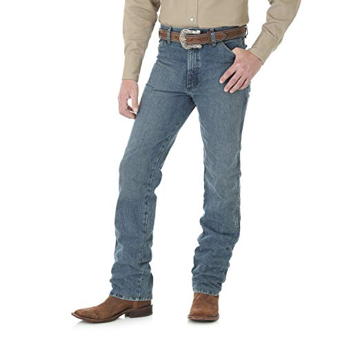 Wrangler Men's Tall Big and Cowboy Cut Slim Fit Jean, Rough Stone, 33Wx38L - Men Wrangler Tall Jeans