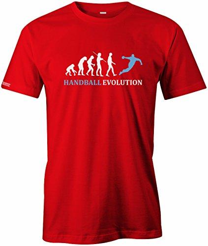 Jayess Handball Evolution - Sport - Handballer - Herren T-Shirt in Rot by Gr. XL