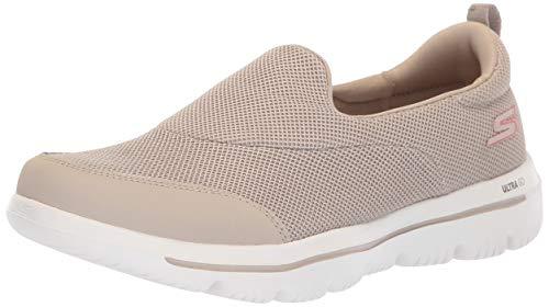 Skechers Damen Go Walk Evolution Ultra-Reach Slip On Sneaker, Beige (Taupe TPE), 36.5 EU Beige Damen-slip