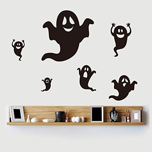 Wandaufkleber Kreatives Geschnitztes Wohnzimmerschlafzimmer-Kinderzimmerpapier Kleinen Geistes Halloweens DIY Wanddekoration