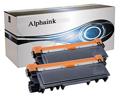 Alphaink AI-KIT2-TN2420 2 Toner CON CHIP compatibile per Brother HL-L2370DN DCP-L2510D HL-L2350DW HL-L2310D DCP-L2530DW MFC-L2710DN MFC-L2730DW MFC-L2750DW MFC-L2710DW HL-L2375DW, 3000 copie al 5%