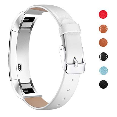 mornex cinturini compatible fitbit alta hr e alta cinturino in pelle, braccialetto classic band ricambio sostituibile con connettori metallici cinghie accessori fitness