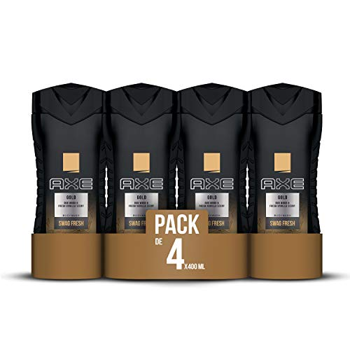 Axe Gel Gold - 4 Paquetes 400 ml - Total: 1600 ml
