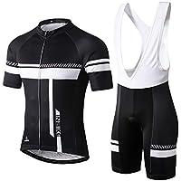 INBIKE Maillot Ciclismo Hombre Manga Corta, Conjunto Ciclismo Verano Deportivo para Montar Bici(Blanco,M)