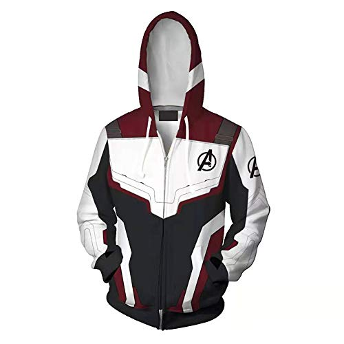 3D Hoodie Cosplay Kostüm Avengers Endgame Hoodie Superheld Pullover Advanced Tech Uniform Quantum Reich Zipper Jacke Sweatshirt ()