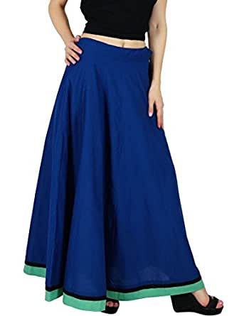 value for money new on feet images of Bimba Women Long Maxi Cotton Skirt A-Line Flaired Skirts ...