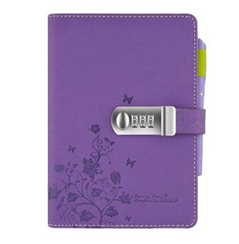 Cuzit Tagebuchmappe mit Blumenmotiv (Tagebuch Lila)
