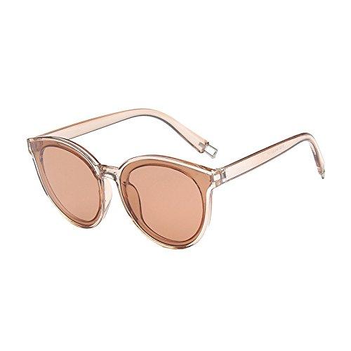 SUNGLASSES Neue Sonnenbrille weibliche koreanische Mode Sonnenbrillen Männer Trend Big Frame Sonnenbrillen (Farbe : Champagne Tea)