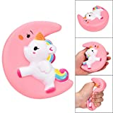 2018 Newest Slow Rising Squishies Jumbo, Toamen 10cm Cute Moon Unicorn Scented Squishy Charm Slow Rising Simulation Kid Toy Key Cell Phone Pendant Strap Gift Home Décor