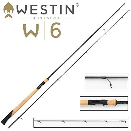 Westin W6 Spin 338cm MH 10-40g Spinnrute Meerforelle, Spinnangeln an der Küste, Angelrute für Meerforellen, Mefor-Rute, Meerforellenrute,